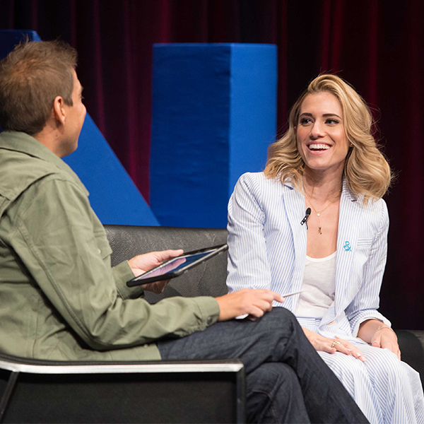 Keynote speaker, Allison Williams, answers viewers' questions at MCON 2017.