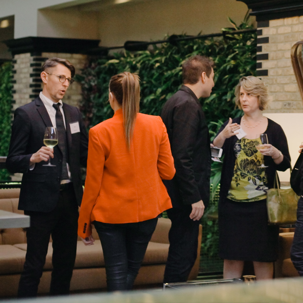 MCON 2015 attendees socialize during the after party.
