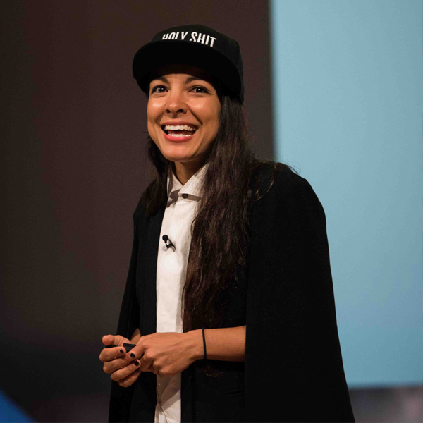 Speaker, Miki Agrawal, discusses the importance of loving yourself at MCON 2016.